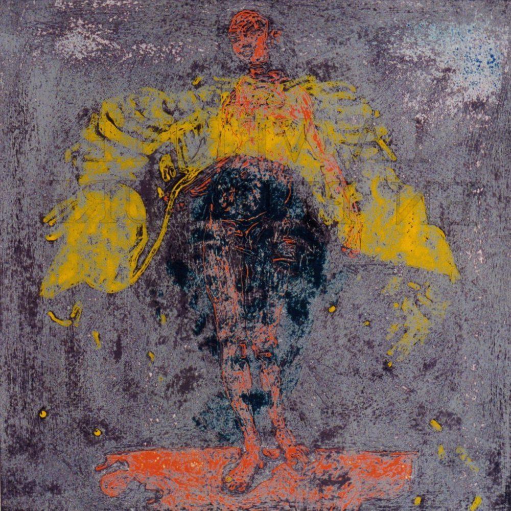 La Verité en Peinture 2. 1995, acrylic on paper, 60x60cm.